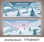 landscape with mountain peaks.... | Shutterstock .eps vector #779289697