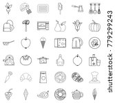 cooking icons set. outline...   Shutterstock .eps vector #779299243