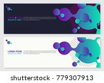 creative banner design with 3d... | Shutterstock .eps vector #779307913