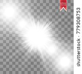 vector transparent sunlight... | Shutterstock .eps vector #779308753