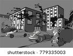 city street sketch | Shutterstock .eps vector #779335003
