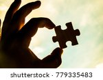 one hand trying to connect...   Shutterstock . vector #779335483