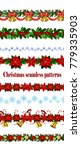 set of n seamless christmas... | Shutterstock .eps vector #779335903
