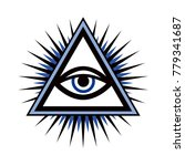 all seeing eye of god  the eye...   Shutterstock .eps vector #779341687