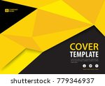 black and yellow cover template ... | Shutterstock .eps vector #779346937