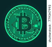 crypto currency coin with... | Shutterstock .eps vector #779347993