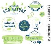 fresh  organic  gluten free ... | Shutterstock .eps vector #779368513