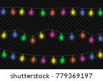 garlands  festive decorations.... | Shutterstock .eps vector #779369197