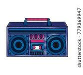 old radio stereo pop art colors | Shutterstock .eps vector #779369947