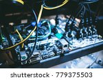 cryptocurrency mining rig pcie... | Shutterstock . vector #779375503
