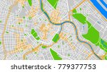 vector map city | Shutterstock .eps vector #779377753