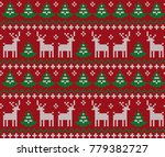 knitted christmas and new year... | Shutterstock .eps vector #779382727
