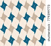 abstract argyle knit pattern ... | Shutterstock .eps vector #779399773