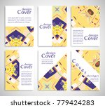 set of a4 cover  abstract... | Shutterstock .eps vector #779424283