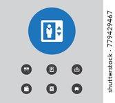set of 7 motel icons set... | Shutterstock .eps vector #779429467