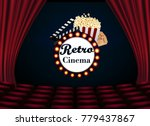 movie theater with row of red... | Shutterstock .eps vector #779437867
