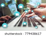 network digital technology... | Shutterstock . vector #779438617