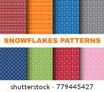 simple christmas patterns with... | Shutterstock .eps vector #779445427