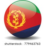 eritrea circle button flag...
