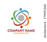 internet service logo. abstract.... | Shutterstock .eps vector #779491363