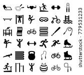 exercise icons. set of 36... | Shutterstock .eps vector #779531233