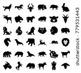 mammal icons. set of 36... | Shutterstock .eps vector #779531443