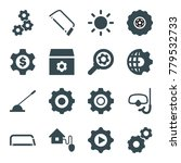 gear icons. set of 16 editable... | Shutterstock .eps vector #779532733