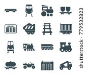 train icons. set of 16 editable ... | Shutterstock .eps vector #779532823
