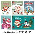 vintage christmas poster design ... | Shutterstock .eps vector #779537917