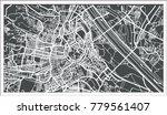 vienna austria map in retro... | Shutterstock . vector #779561407