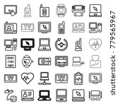 monitor icons. set of 36... | Shutterstock .eps vector #779565967