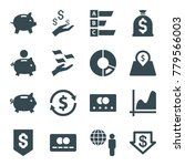 economy icons. set of 16... | Shutterstock .eps vector #779566003