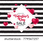 happy valentines day card with... | Shutterstock .eps vector #779567257