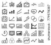 chart icons. set of 36 editable ... | Shutterstock .eps vector #779578387