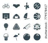 recreation icons. set of 16... | Shutterstock .eps vector #779578417