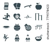 lifestyle icons. set of 16... | Shutterstock .eps vector #779578423