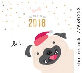 dog year and happy new year   Shutterstock .eps vector #779589253