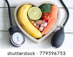 food and healthy heart diet... | Shutterstock . vector #779596753