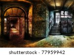 Panorama Of A Hallway In An...