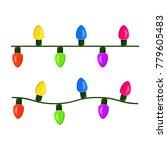 light bulb  garland string... | Shutterstock .eps vector #779605483