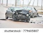 car crash accident on street ... | Shutterstock . vector #779605807