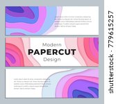 abstract paper cut cover design.... | Shutterstock .eps vector #779615257