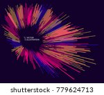 radial abstract graphic  vector ... | Shutterstock .eps vector #779624713