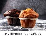 Chocolate Muffin And Nut Muffi...