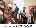 group of teenage students in... | Shutterstock . vector #779645437