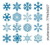 snowflake vector icon... | Shutterstock .eps vector #779656027
