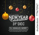 new year flyer  2018  | Shutterstock .eps vector #779670967