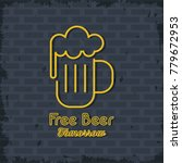 free beer neon lights icon | Shutterstock .eps vector #779672953