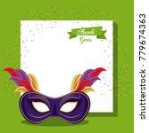 mardi gras mask | Shutterstock .eps vector #779674363