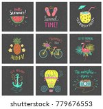 set of summer hand lettering... | Shutterstock . vector #779676553